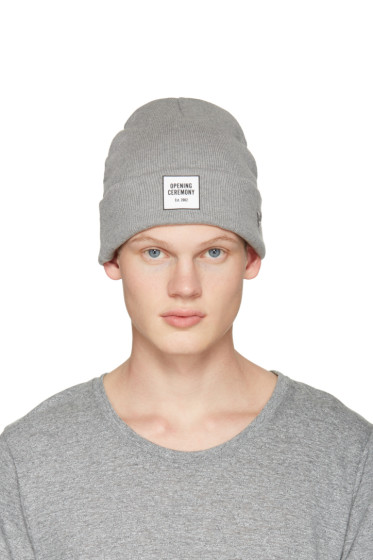 Opening Ceremony - Grey Logo Beanie