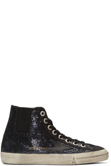 Golden Goose - Blue V-Star 1 High-Top Sneakers