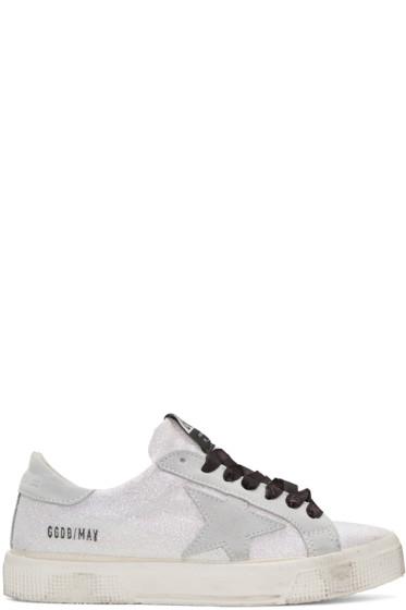 Golden Goose - White Glitter Star May Sneakers