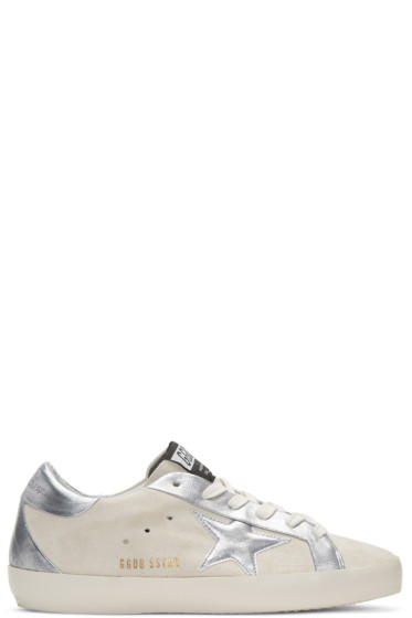 Golden Goose - White Suede Bespoke Superstar Sneakers