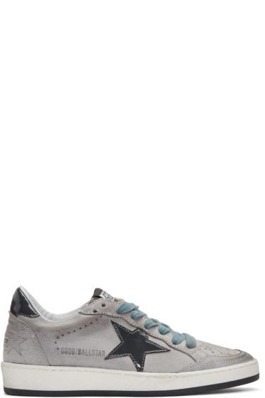 Golden Goose - Grey Suede Ball Star Sneakers