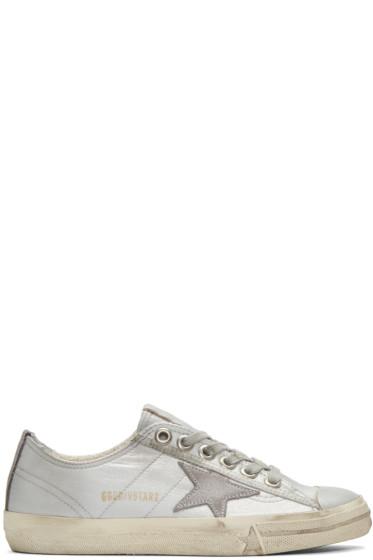 Golden Goose - Silver V-Star 2 Sneakers