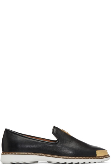 Giuseppe Zanotti - Black Leather Kevin 10 Loafers