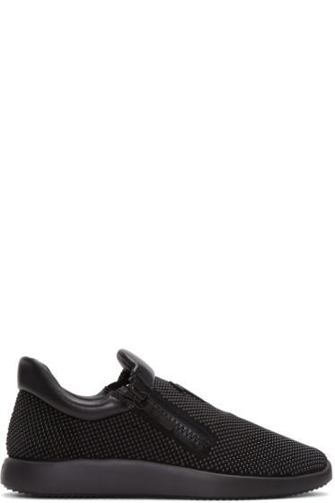 Giuseppe Zanotti - Black Studded Sneakers