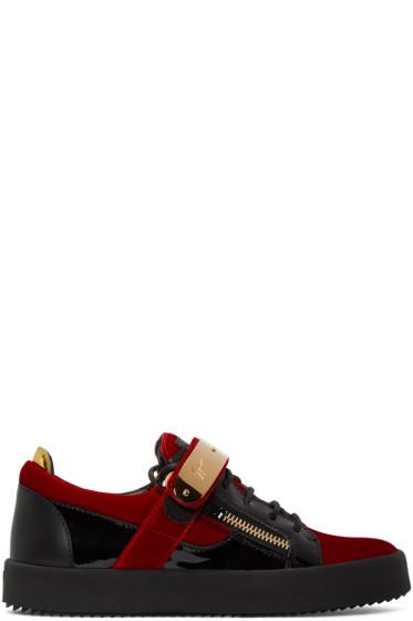 Giuseppe Zanotti - Red Velvet London Sneakers