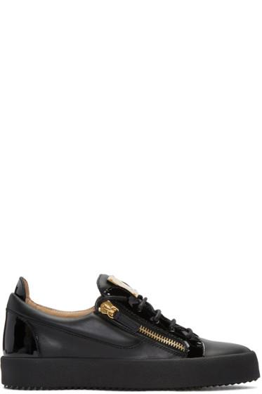 Giuseppe Zanotti - Black Leather London Sneakers