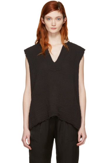 Raquel Allegra - Black Tunic Tank Top