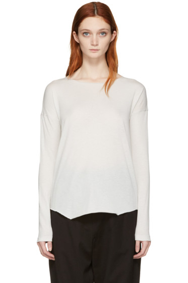 Raquel Allegra - White Jersey Basic T-Shirt