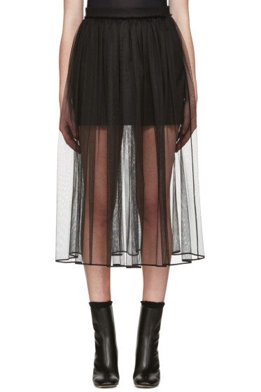 Givenchy - Black Tulle Layered Skirt