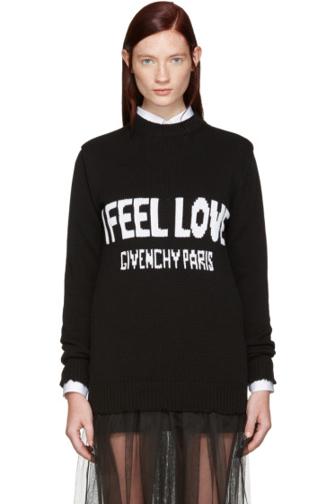Givenchy - Black 'I Feel Love' Sweater