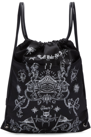 Givenchy - Black Tatoo Print Rucksack