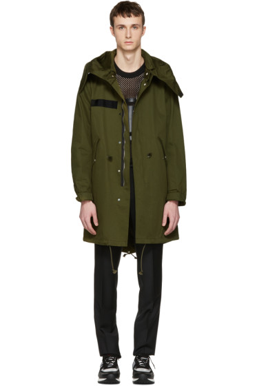Givenchy - Green Printed Wings Parka