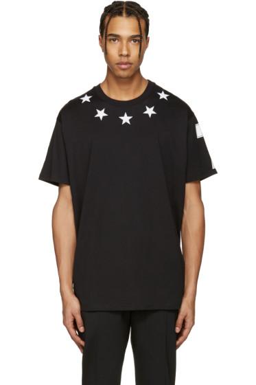 Givenchy - Black Stars T-Shirt