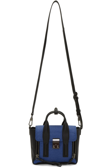 3.1 Phillip Lim - Black & Blue Mini Pashli Satchel