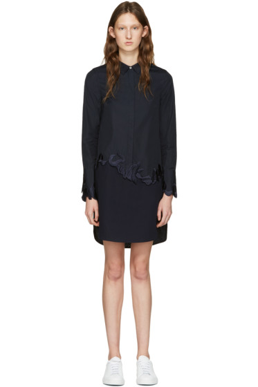 3.1 Phillip Lim - Navy Embroidered Shirt Dress