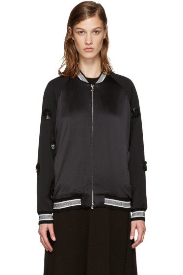 3.1 Phillip Lim - Black Tux Bomber Jacket