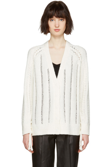 3.1 Phillip Lim - White Pointelle Cardigan