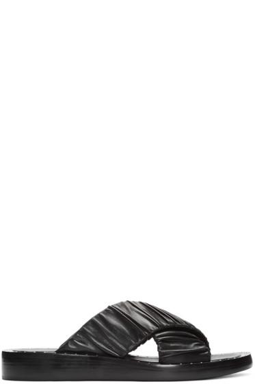 3.1 Phillip Lim - Black Ruched Sandals