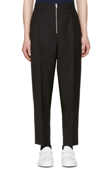 3.1 Phillip Lim - Black Exposed Zip Trousers