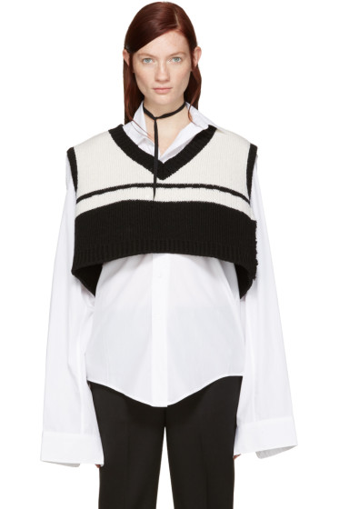 Raf Simons - Black & White Oversized Vest