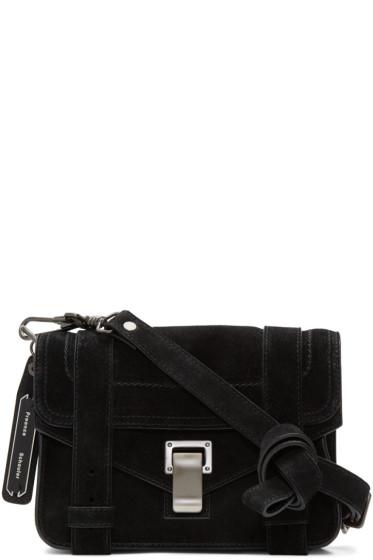 Proenza Schouler - Black Suede Mini PS1 Crossbody Bag