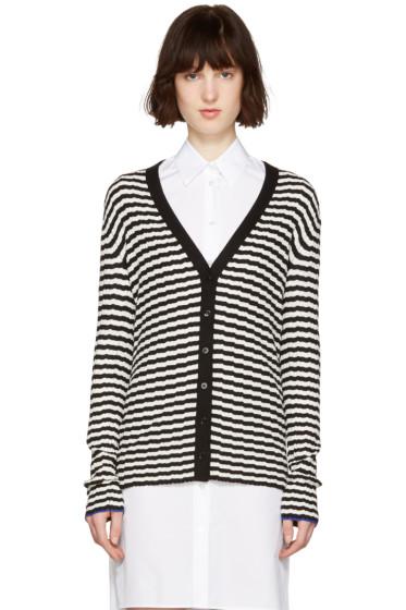 Proenza Schouler - Black & White Striped Cardigan