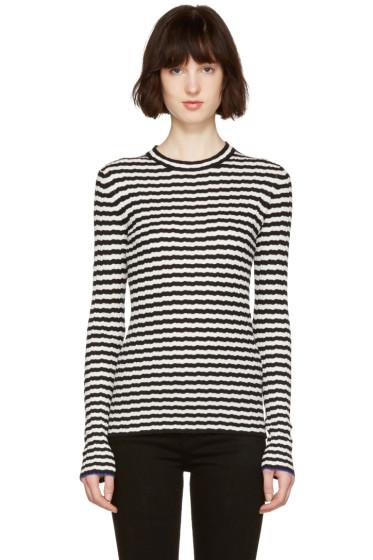 Proenza Schouler - Black & White Striped Pullover