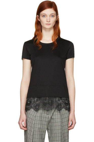Carven - Black Lace Detail T-Shirt