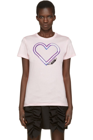 Carven - Pink Neon Heart T-Shirt