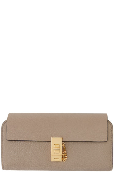 Chloé - Grey Drew Flap Wallet