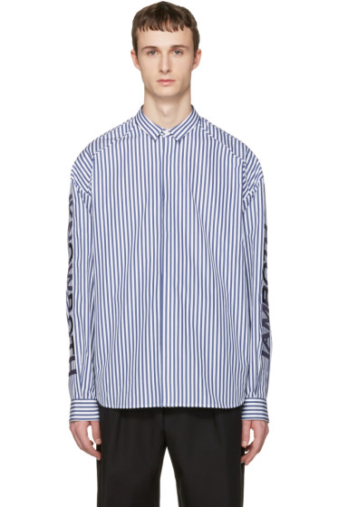 Juun.J - Navy Stripes Shirt