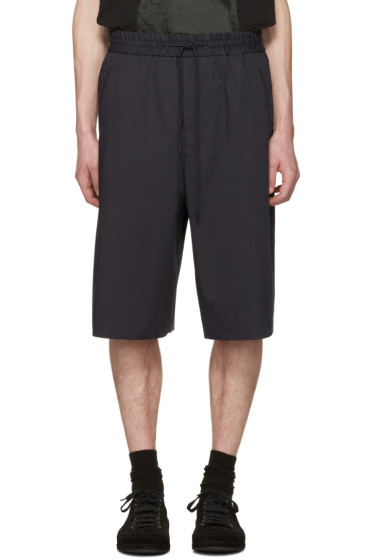 Juun.J - Navy Basic Drawstring Shorts