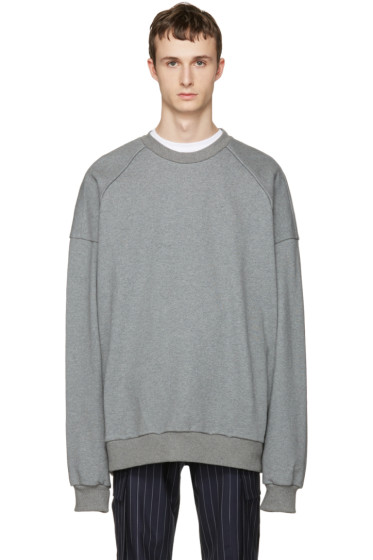 Juun.J - Grey 'I Know Both' Pullover