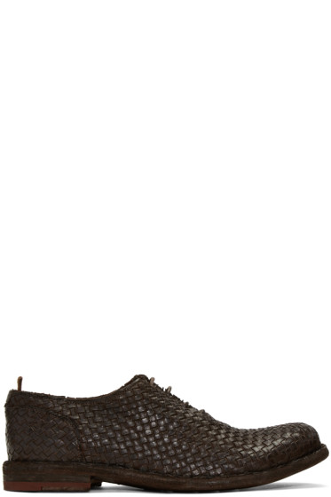 Officine Creative - Brown Basket Weave Ideal 23 Derbys