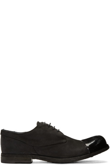 Officine Creative - Black Bubble 23 Cap Toe Derbys