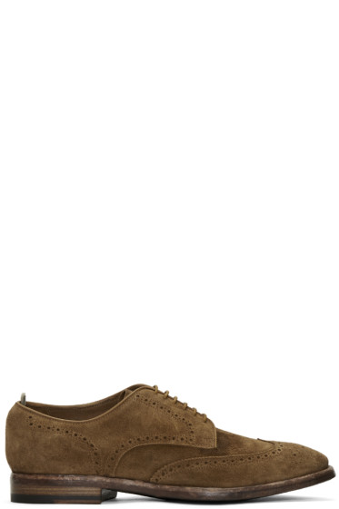 Officine Creative - Brown Suede Princeton Brogues