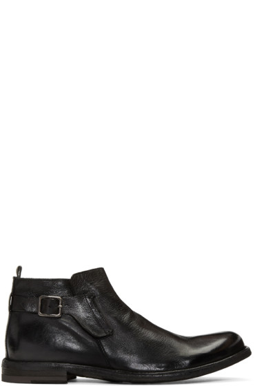Officine Creative - Black Ideal 26 Buckle Boots