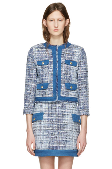 Pierre Balmain - Blue Tweed Blazer