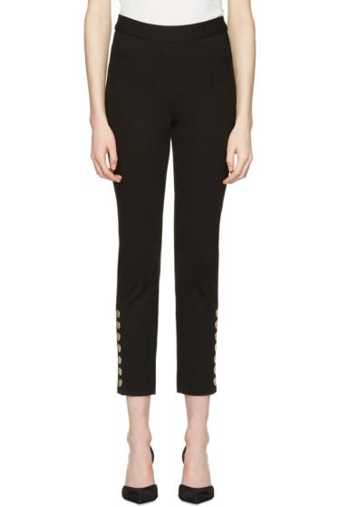 Pierre Balmain - Black Gold Buttons Trousers