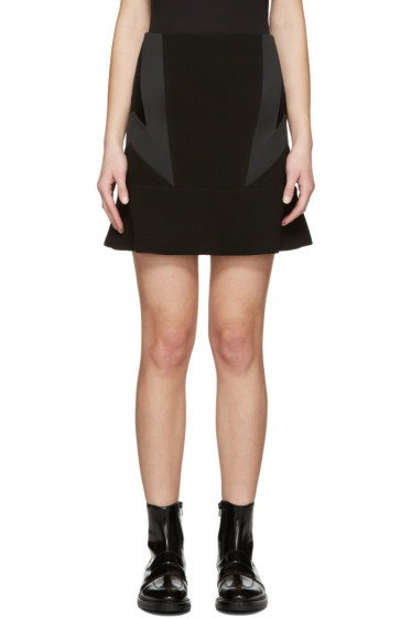 Neil Barrett - Black New Modernist Miniskirt