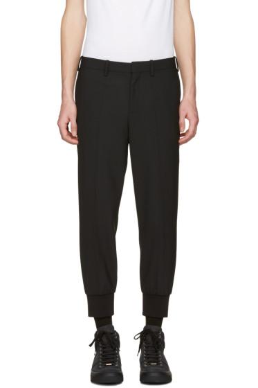 Neil Barrett - Black Cuff Detail Trousers