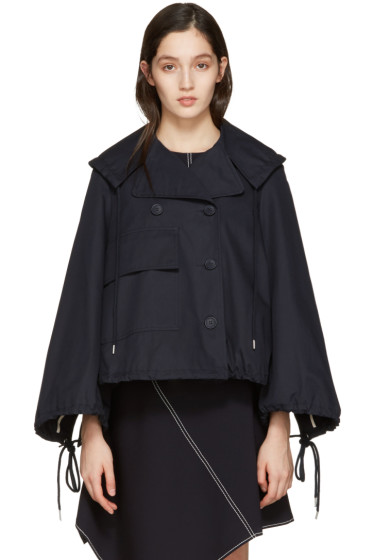 See by Chloé - Navy Oversized Pocket Jacket