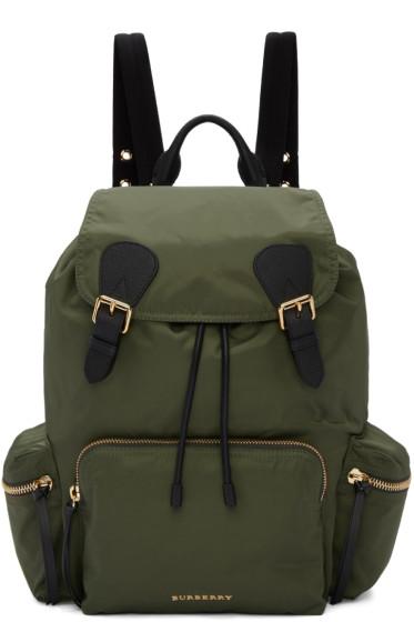 Burberry - Green Nylon Backpack