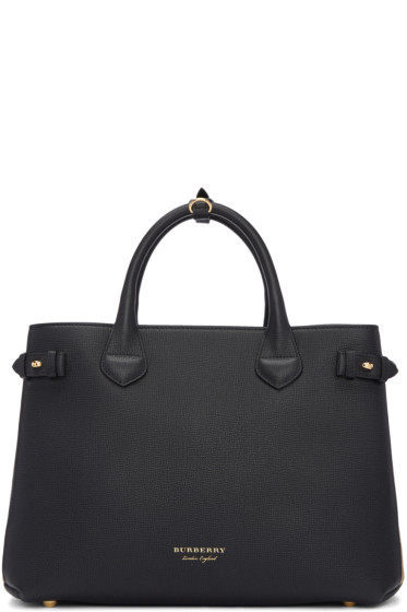 Burberry - Black Medium Banner Tote