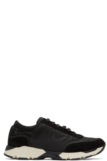 Marni - Black Nylon & Suede Sneakers
