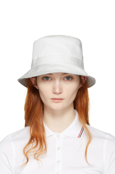 Thom Browne - White Bucket Hat