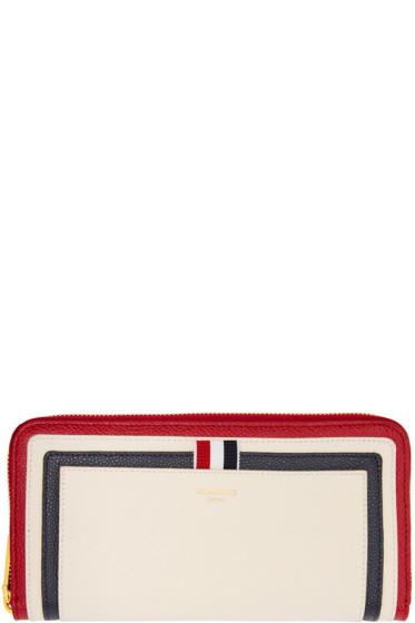 Thom Browne - Tricolor Long Zip Around Wallet