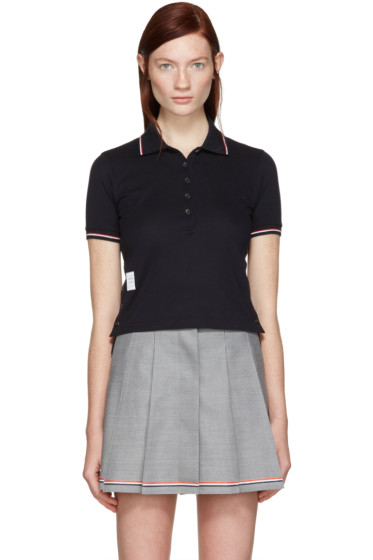 Thom Browne - Navy Short Sleeve Polo