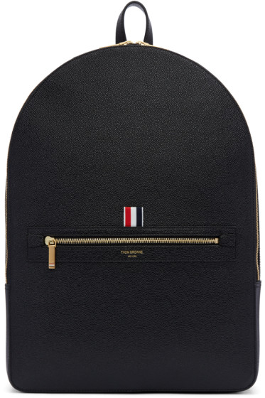 Thom Browne - Black Leather Backpack