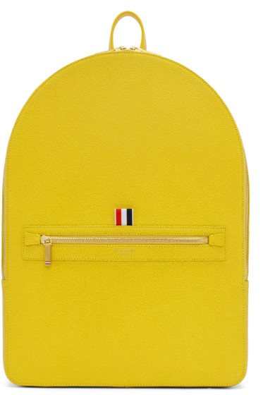 Thom Browne - Yellow Leather Backpack